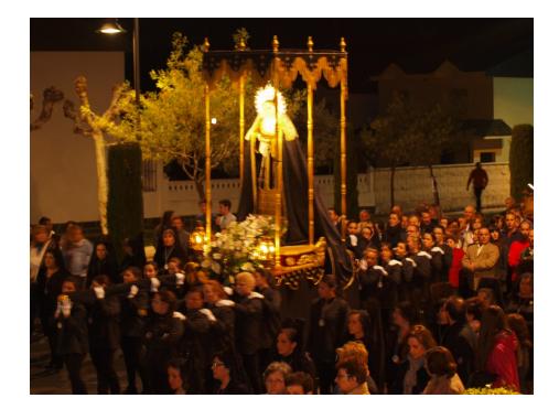 Imagen de Nª Sª de la Soledad, en 2015.