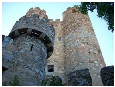Fotografía del castillo de la Coracera.- S. XV.