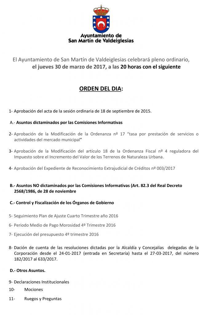 EL AYUNTAMIENTO DE SAN MARTIN DE VALDEIGLESIAS