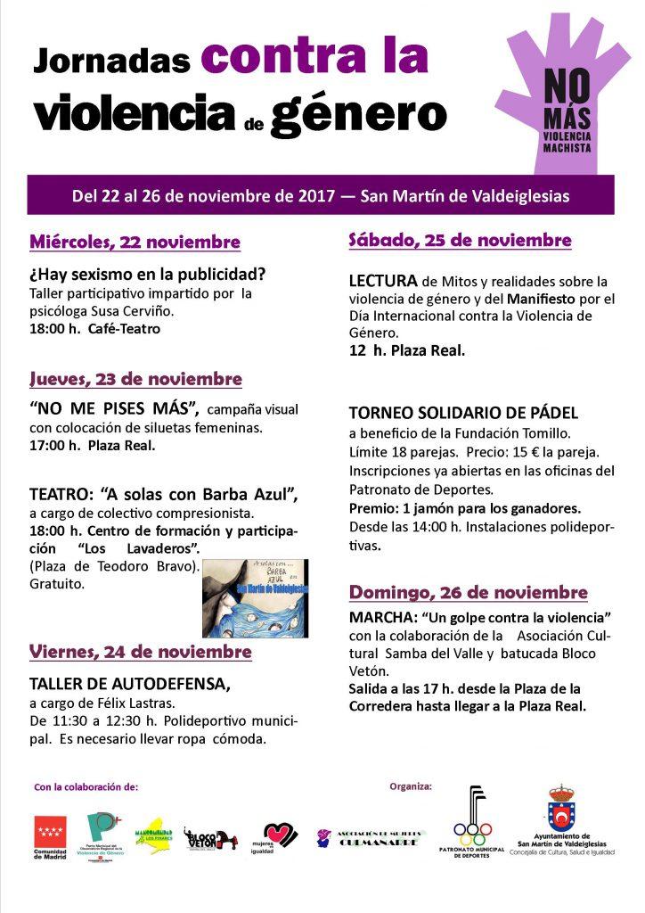 violencia de genero 2017 cartel con escudo cm